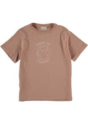 My Little Cozmo My Little Cozmo - Organic flame t-shirt Terra Cotta