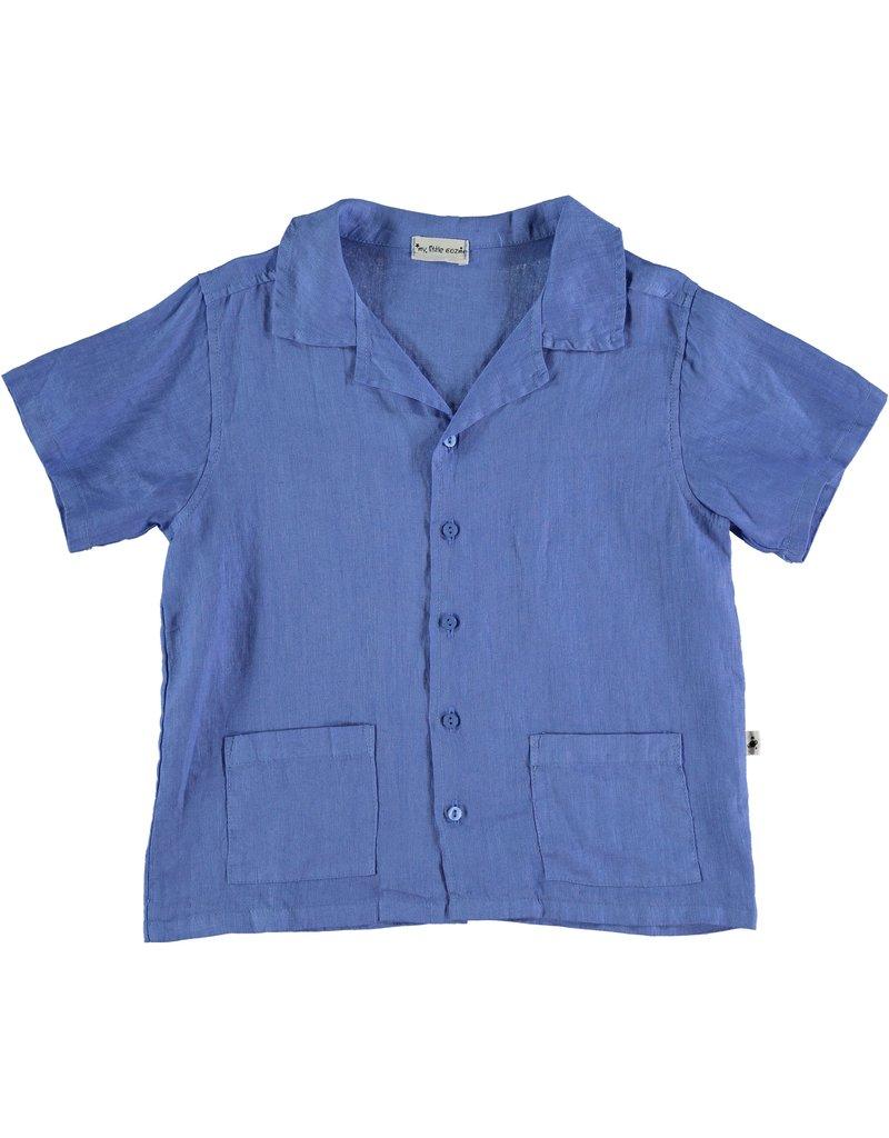 My Little Cozmo My Little Cozmo - Linnen kids shirt Blue