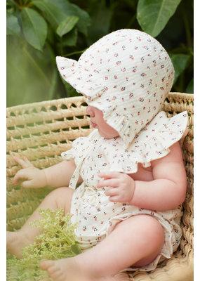 My Little Cozmo My Little Cozmo - Organic liberty baby bonnet Ivory