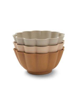 Konges Sløjd Konges Sløjd - 3-pack set bowl - Apricot,Grey,Blush