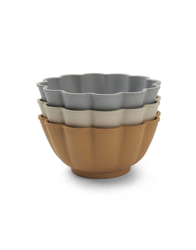 Konges Sløjd Konges Sløjd - 3-pack set bowls color : Apricot,Blue,Grey