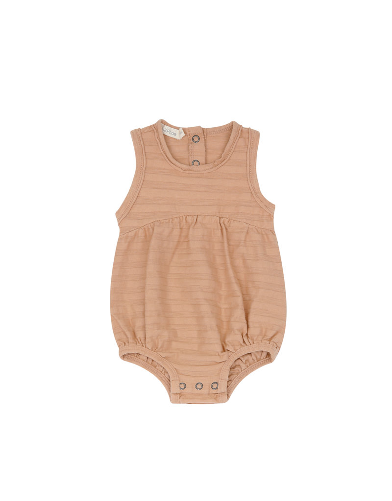 Phil & Phae Phil & Phae - Bubble onesie tonal stripe Peach Dust