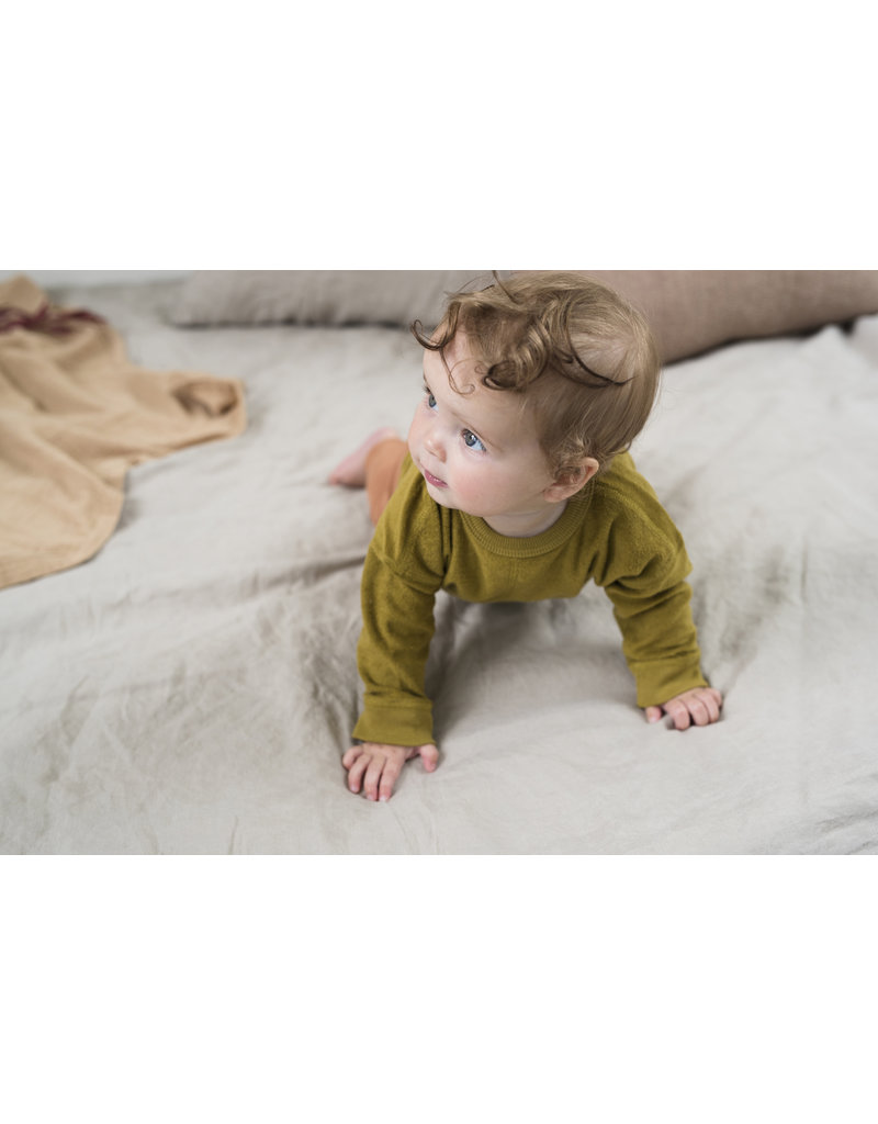 Phil & Phae Phil & Phae - Frotté baby sweater Pear
