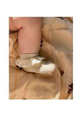 Konges Sløjd Konges Sløjd - Lace socks lurex Creme