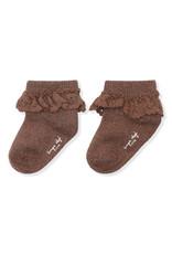 Konges Sløjd Konges Sløjd - Lace socks lurex Mocca