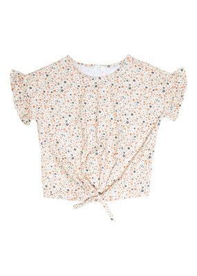 Petit Blush Petit Blush - Knot t-shirt ( floral print)