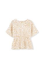 Kids on the moon Kids on the moon - Golden leopard peplum blouse