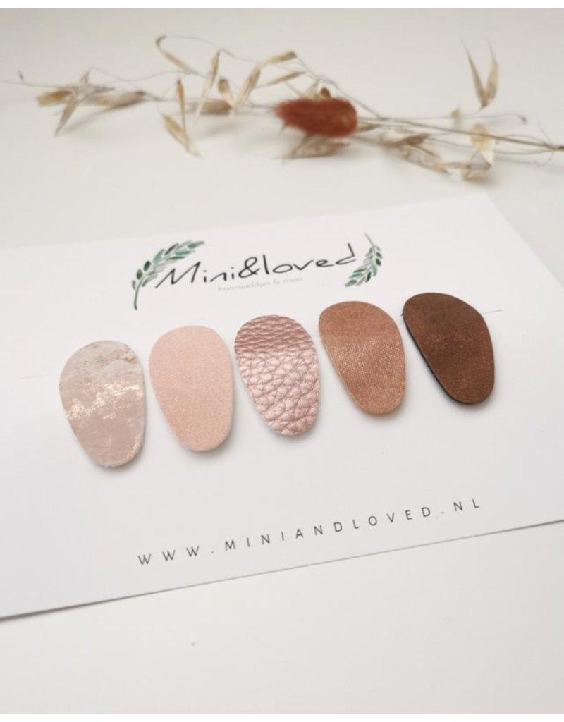 Mini and Loved Mini & Loved - Haarspeldjes Roze 5 stuks