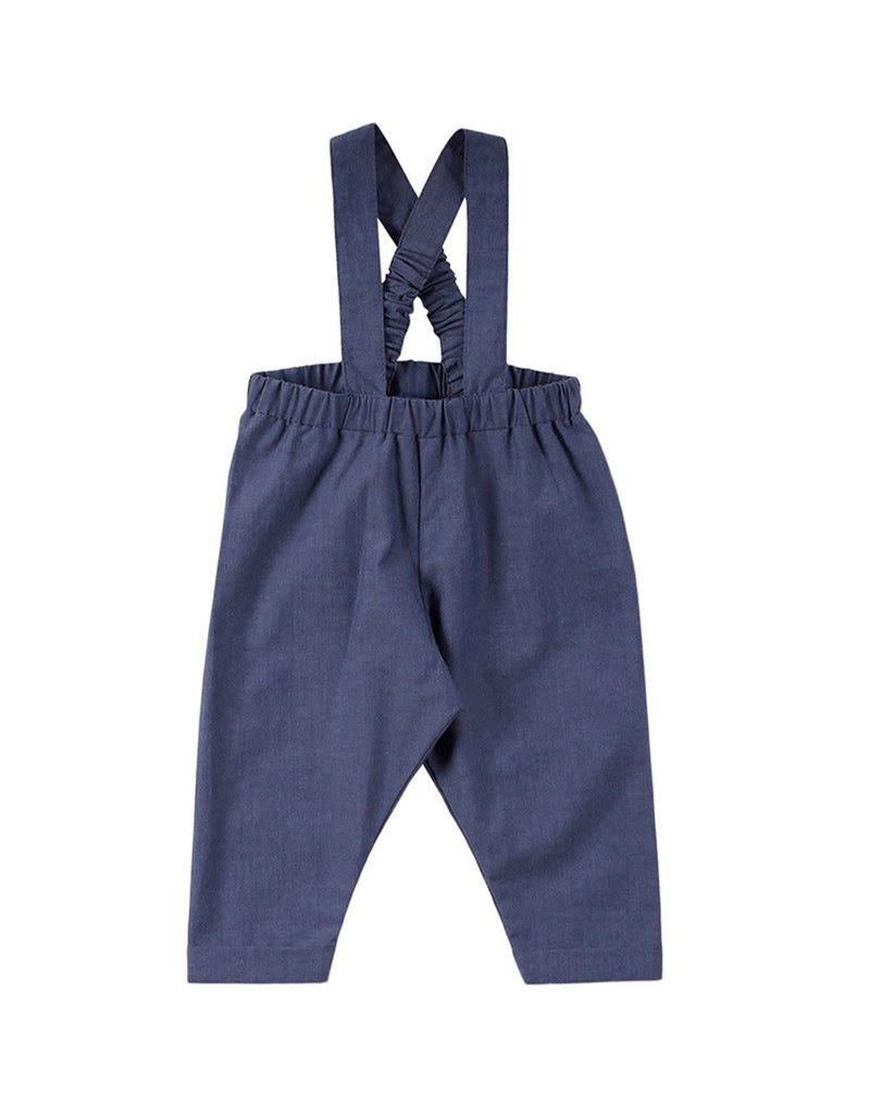 Müsli Müsli - Chambray suspenders pants