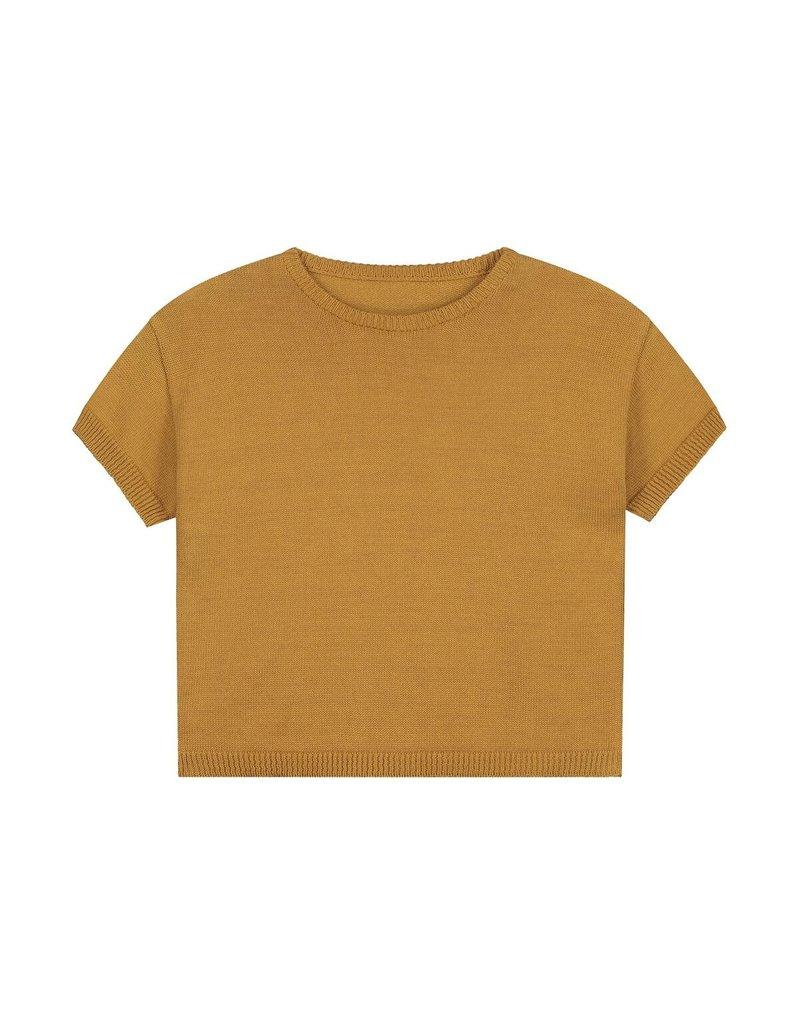 Daily Brat Daily Brat - Summer knitted t-shirt Sandstone