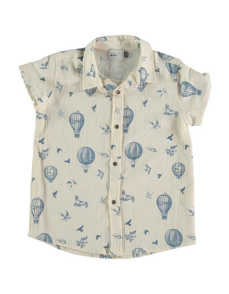 Piñata Pum Piñata Pum - Orbita raw allover fly shirt