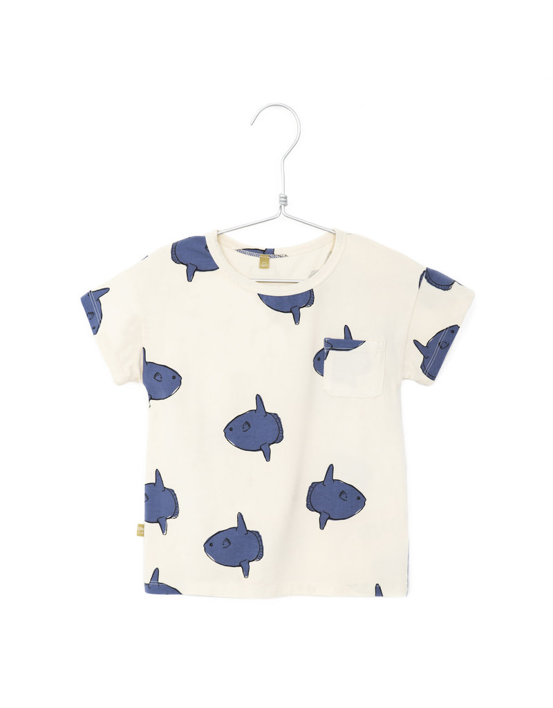 Lötiekids Lötiekids : Tshirt short sleeve moonfishes off white