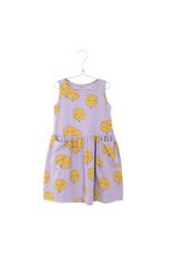 Lötiekids Lötiekids : Dress sleeveless pockets moons (mauve)