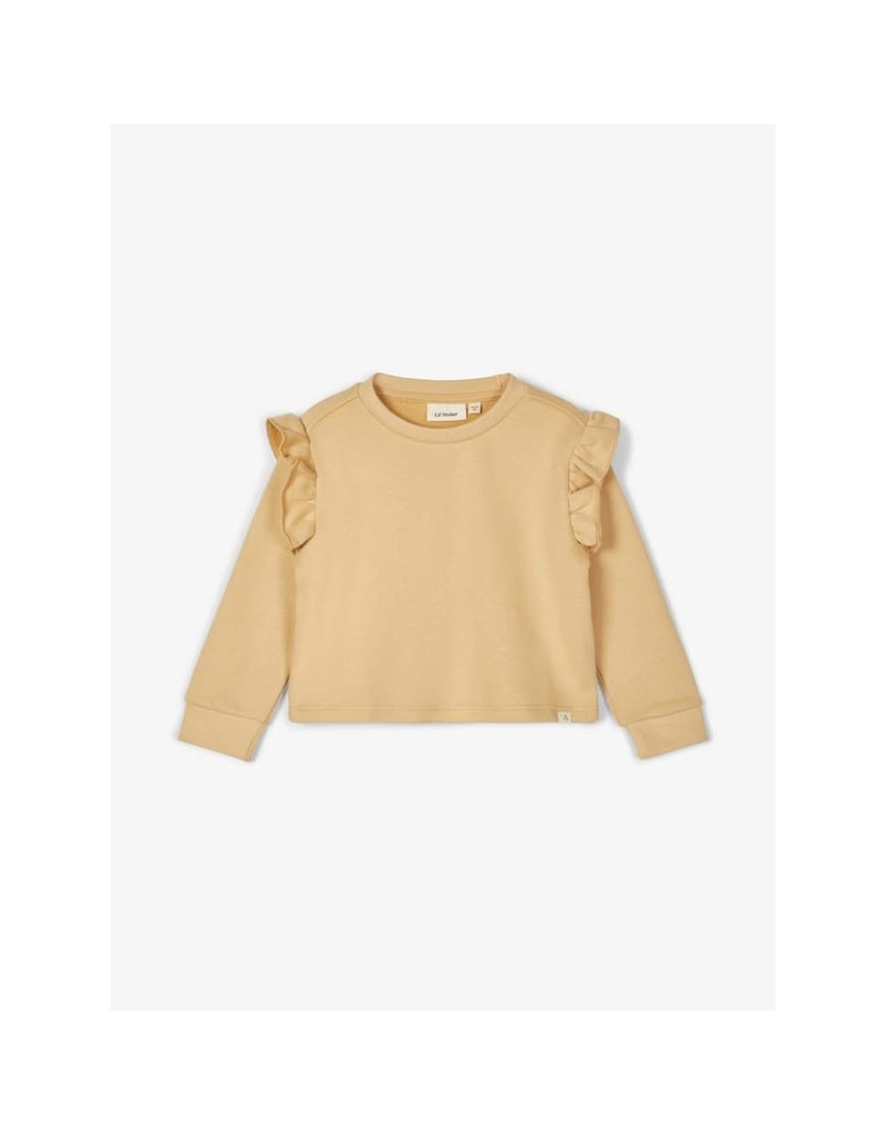 Lil ' Atelier Lil' Atelier : Loose fit ruche sweater (taos taupe )