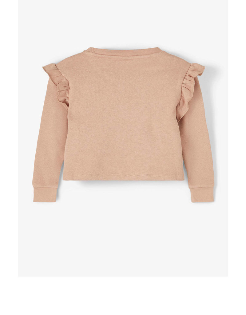 Lil ' Atelier Lil' Atelier - Loose fit ruche sweater ( roebuck color )