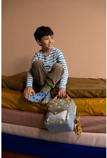Sticky Lemon Sticky Lemon : Small backpack corduroy - pigeon blue + woody green