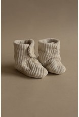 Nanami Nanami : babyslofjes rib velvet mini naturel  6-12 maanden
