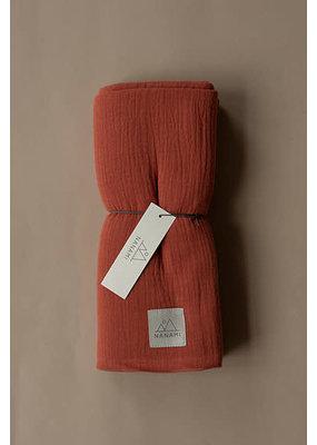 Nanami Nanami : Swaddle XL  uni mousseline roest