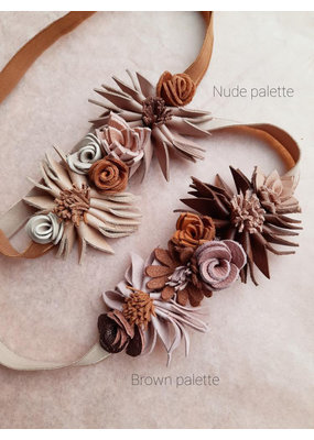 Atelier Ovive Atelier Ovive : Wild flower haarband brown palette