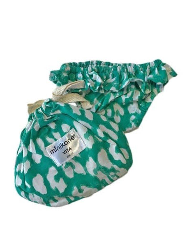 Minikane Minikane: Poppen bikini broekje blauw panter