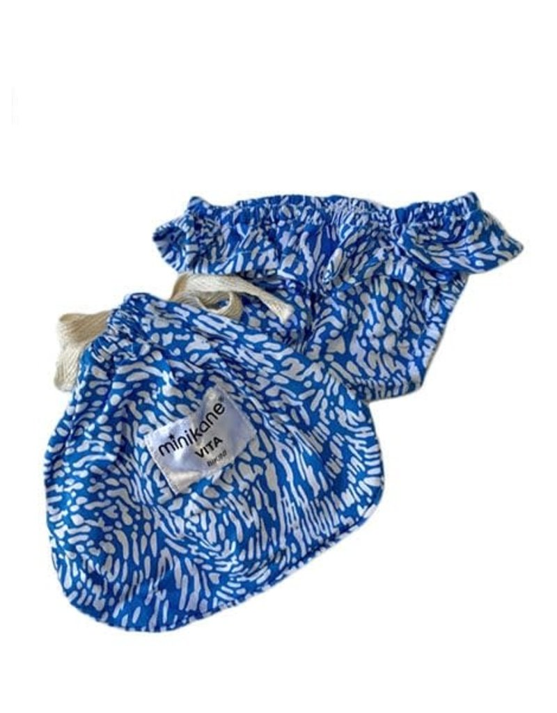Minikane Minikane : Poppen bikini broekje blauw met panter printje