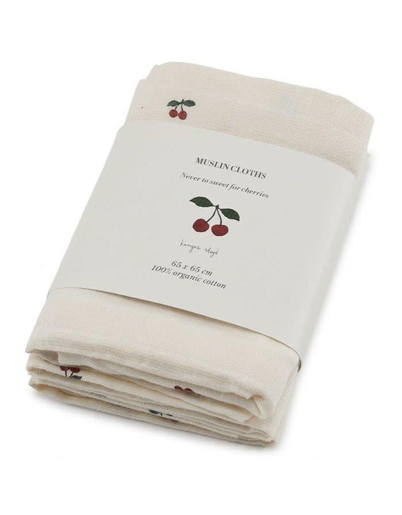 Konges Sløjd Konges Sløjd : Hydrofiele doeken (3st) Cherry