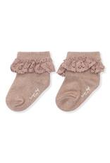 Konges Sløjd Konges Sløjd : Lace Socks lurex Rose blush