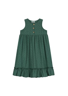Daily Brat Daily Brat : Moon polka dress juniper green