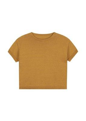 Daily Brat Daily Brat : Mini summer knitted sweater sandstone