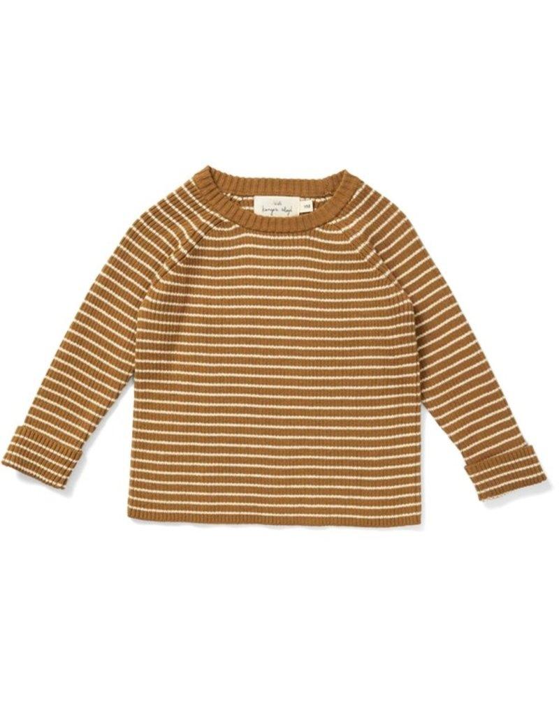 Konges Sløjd Konges Sløjd :Meo knit blouse cotton - Dijon/ Off White