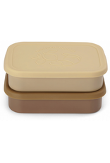 Konges Sløjd 2 Pack Food Boxes Lid Square - Vanilla Yellow  Konges Sløjd:  2 Pack Food Boxes Lid Square - Vanilla Yellow