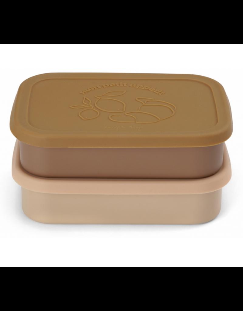 Konges Sløjd Konges Slojd : 2 Pack Food Boxes Lid Square - Rose