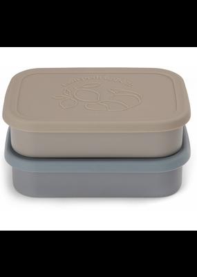 Konges Sløjd Konges Slojd : 2 Pack Food Boxes Lid Square - Blue