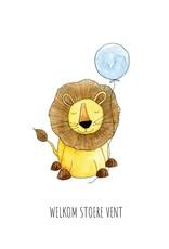 Juulz Juulz: kaart geboorte jongen leeuw