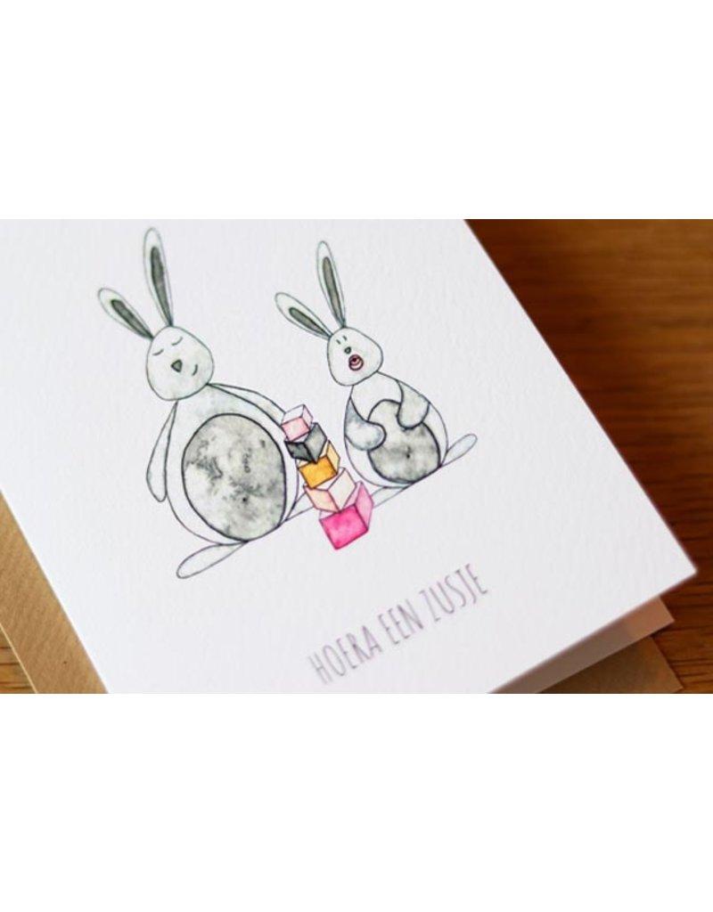 Juulz Juulz : kaart zusje konijntjes