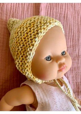 Mamabel Mamabel : Poppen Bonnet - kleur geel gemêleerd.