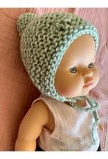 Mamabel Mamabel : Poppen Bonnet - kleur groen gemêleerd.