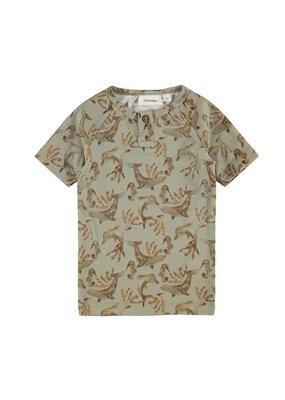 Lil ' Atelier Lil' Atelier T-shirt Silver Sage Zeeprint