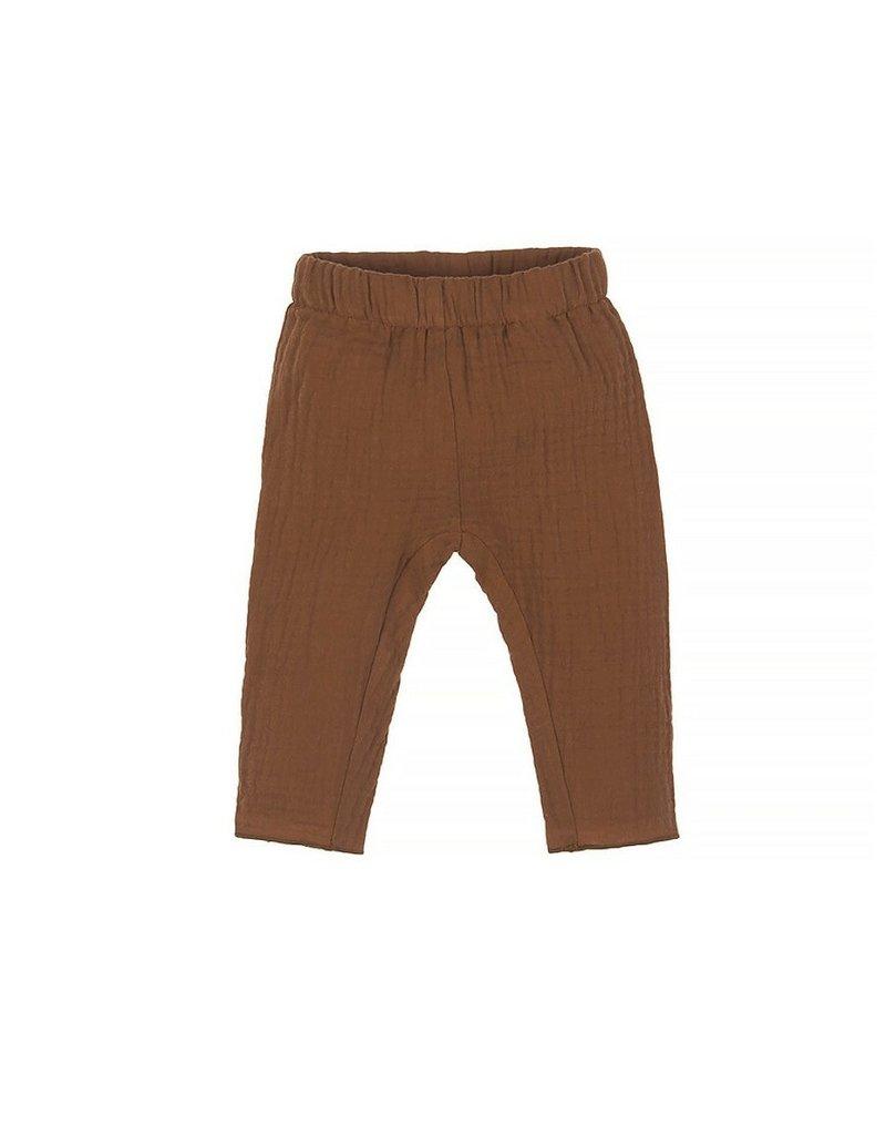 Nanami Nanami - Baby mousseline pants bruin 50-56