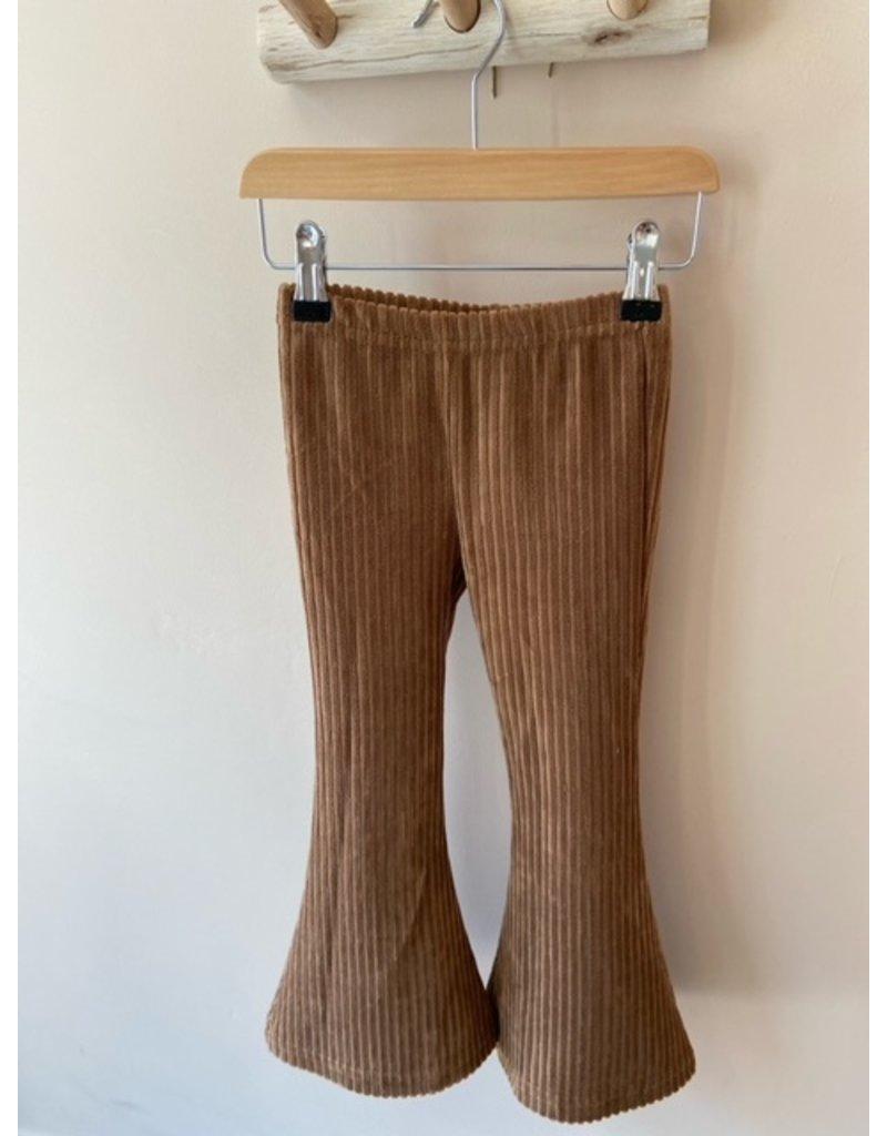 Navy Naturel Navy Naturel : Flared pants rib bruin