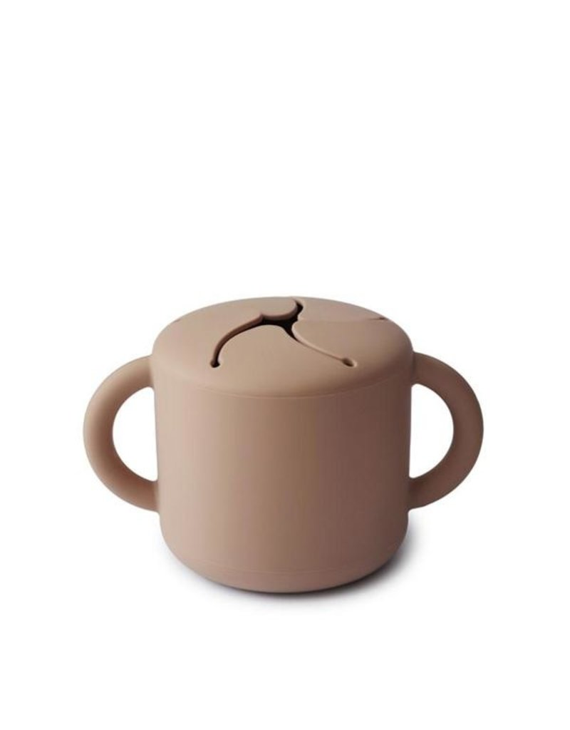 Mushie Mushie - Snack cup siliconen natural