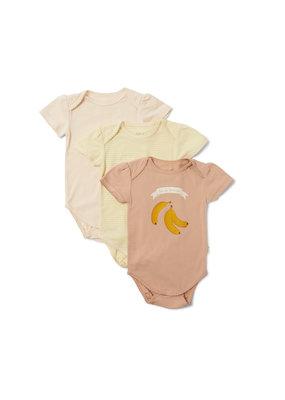 Konges Sløjd Konges Slojd : Cue 3 Pack Short Sleeve Body - Blazing/Rosey/Champagne