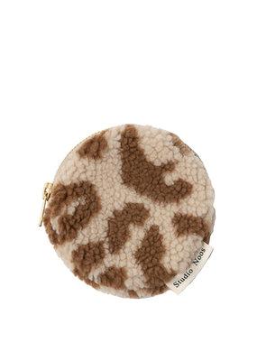 Studio Noos Studio Noos : Teddy leopard ecru wallet