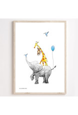Juulz Juulz : Poster stapeldieren blauw