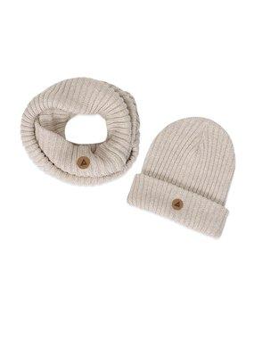 Ammehoela Ammehoela - Bobbie 12 sjaal + muts off white