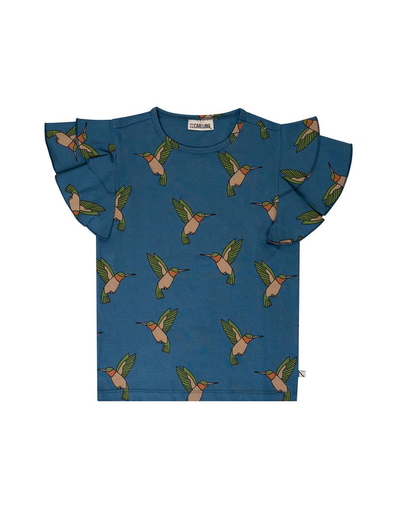 Carlijn Q Carlijn Q : Hummingbird- ruffled shirt , girl