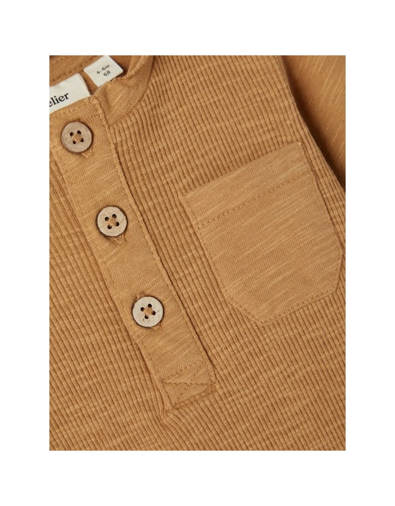 Lil ' Atelier Lil' Atelier : Mivar body long sleeve - Tobacco brown