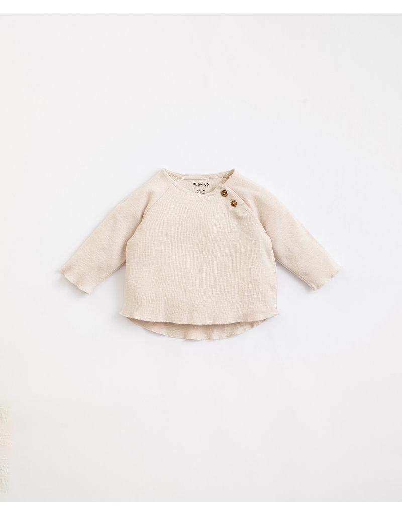 Play Up Play Up : Flamé rib  - T-shirt beige