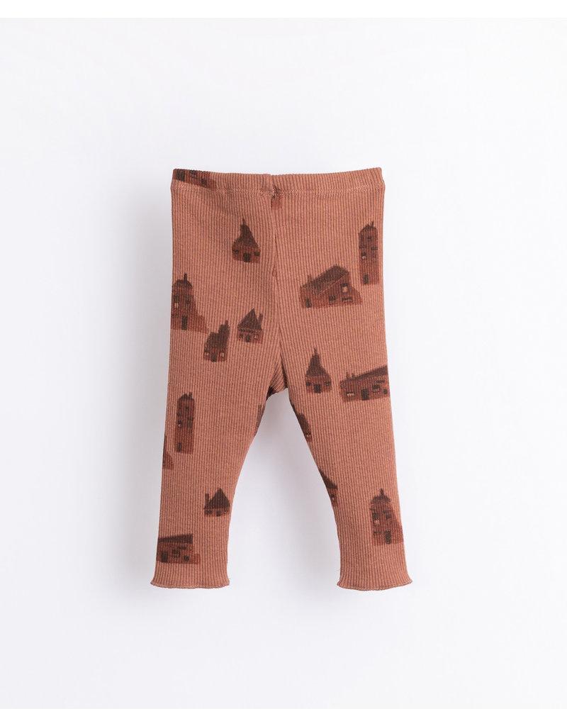 Play Up Play Up : Printed rib legging huisjes