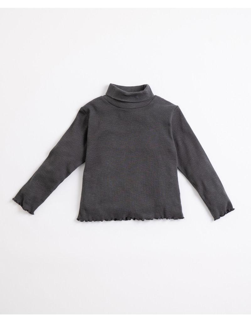 Play Up Play Up : Collar flamé rib sweater grijs